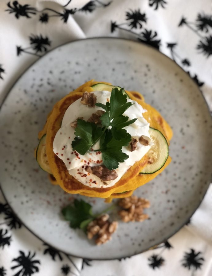 """""""Spicy Pumpkin"""" (with chili and quark-walnut-topping)"""