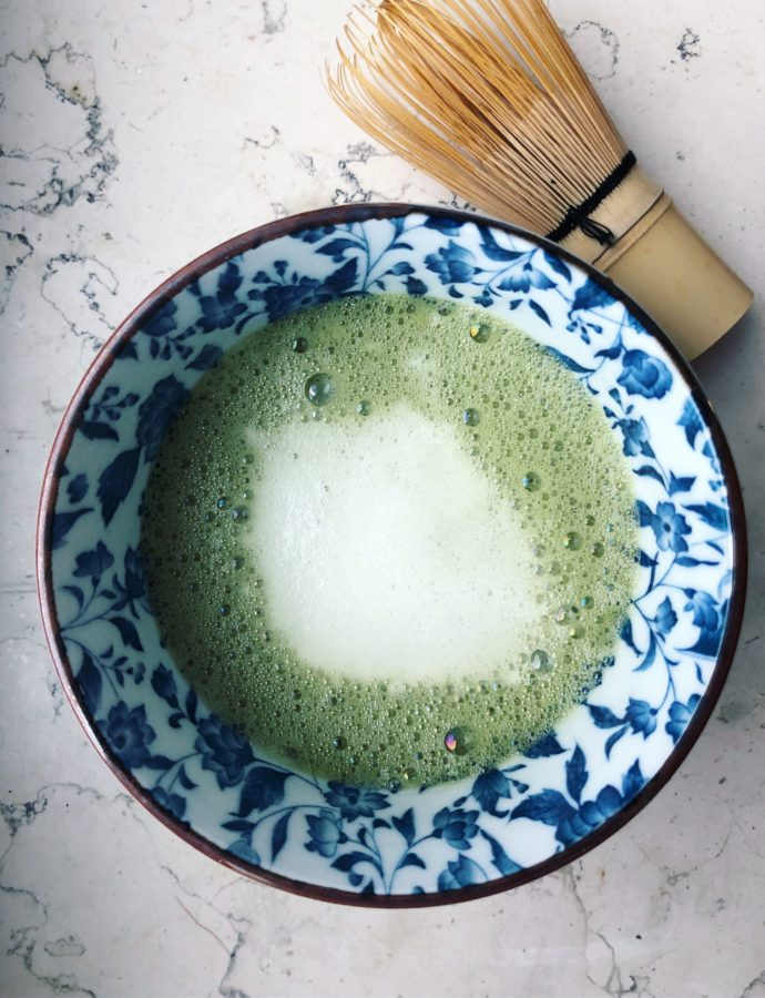 Just a picture of a bowl of Matcha Tea